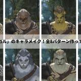 【FF14】新種族「ロスガル」のキャラメイク!全8パターン作ってみたので紹介